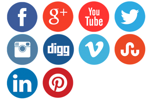 Social media buttons png. Clean and neat network