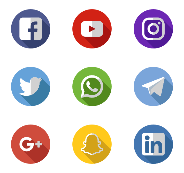Social media buttons png 201. Free icons designed by