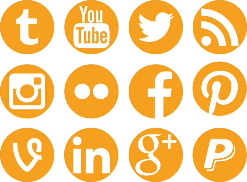 Social media buttons png. Icons by colourfy design