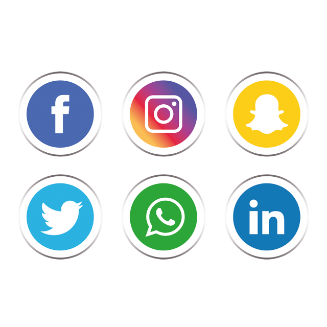 Social media icons transparent png. Set icon and vector
