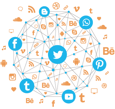 Social media globe png. About knomedia