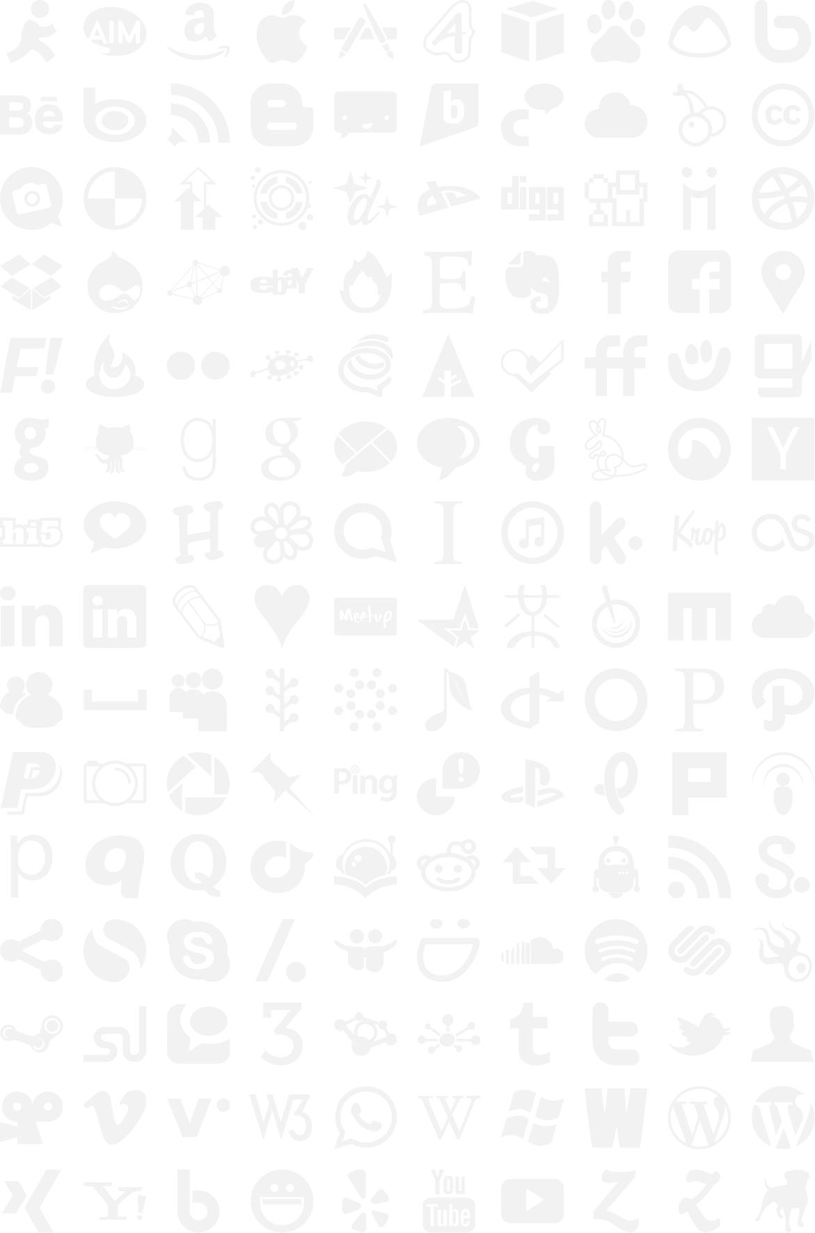 Social media icons black and white png. Download less file grey