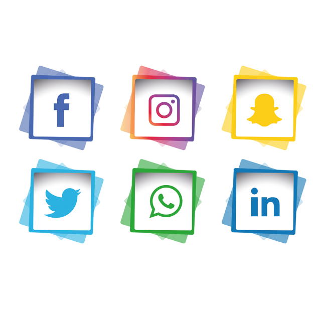 Facebook instagram twitter icons png. Social media set whatsapp