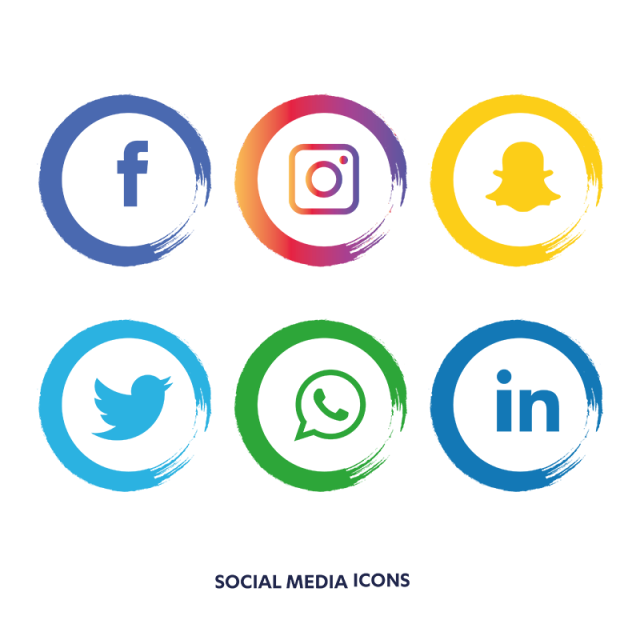 Social media icons facebook like and love buttons png. Set instagram whatsapp