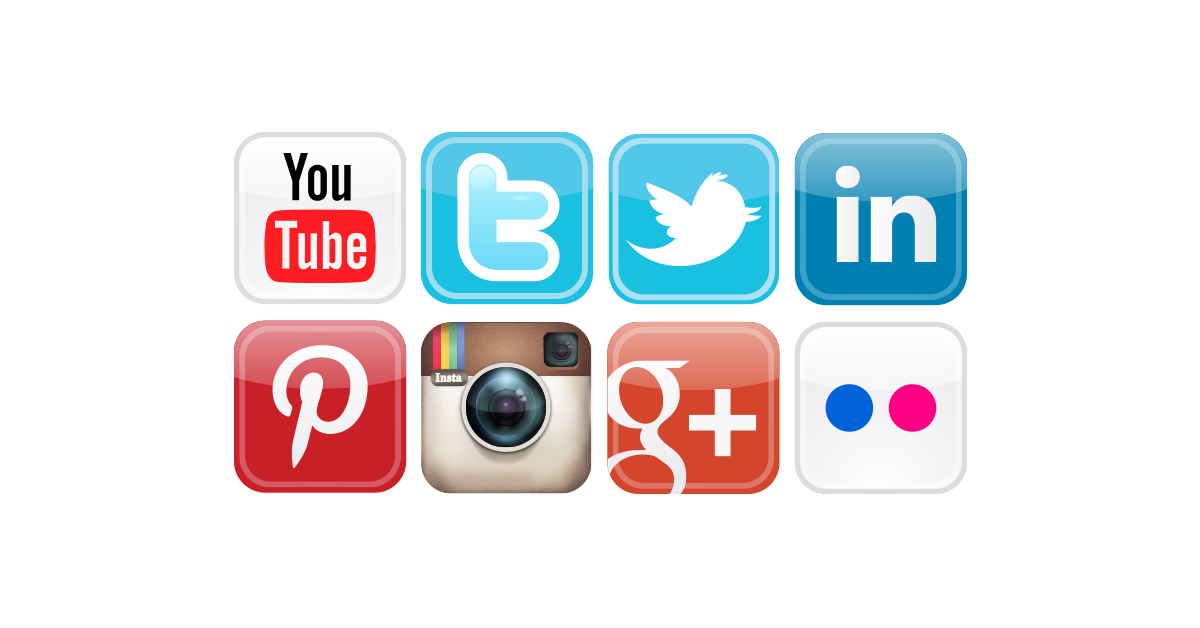 Social media icons png download. Most popular free vector