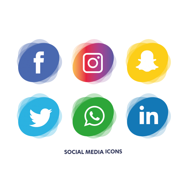 Social icons set icon. Media vector banner royalty free stock