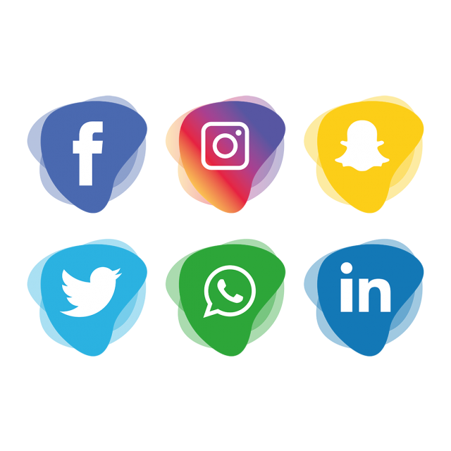 Social media icons transparent background png. Set icon and vector