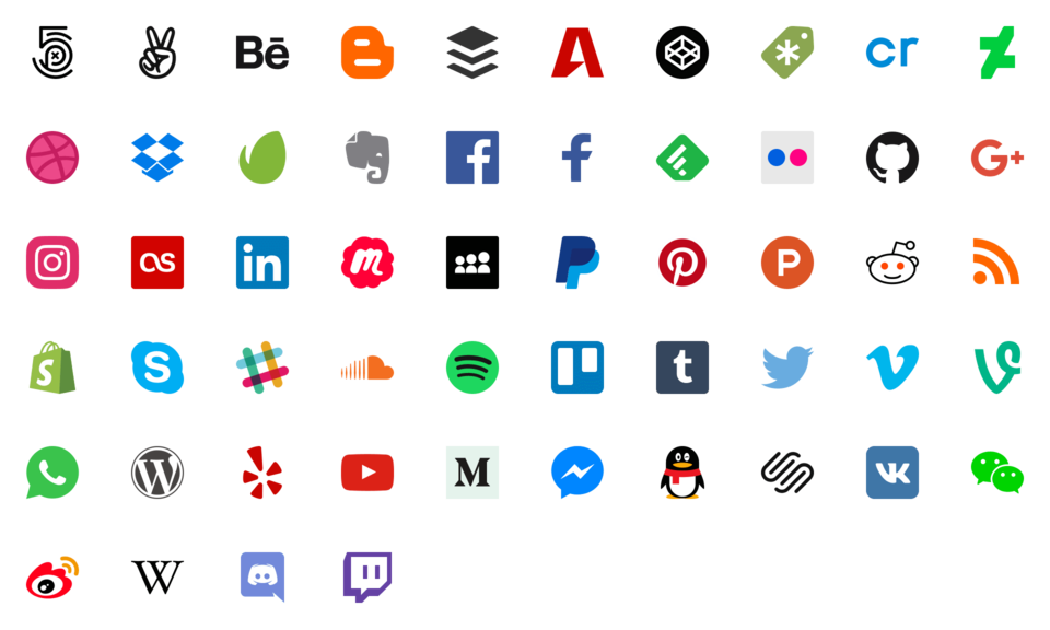 Social media icons transparent background png. Px