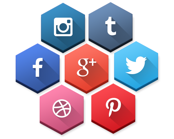 Social media login buttons png. Fresh new icon