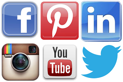 Social media logos png no background. Icons vector free and