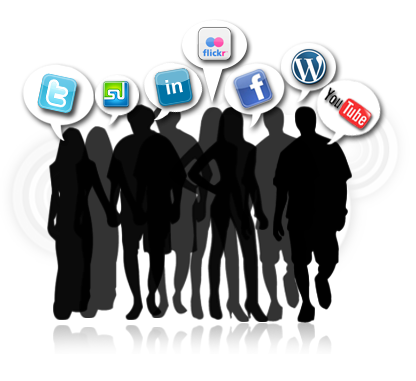 Social media people png. How to use promote