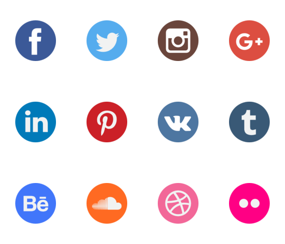 Social networking icons png. Network logo collection packs