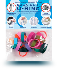 Sock clip. O ring for woshing