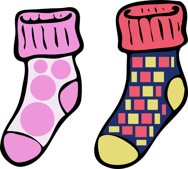 Collection of free crazed. Socks clipart picture library download