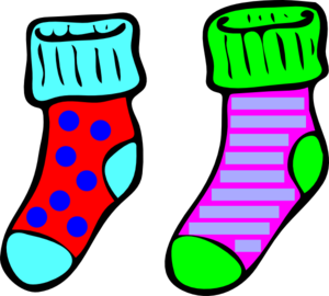 Socks black white. Sock clip mix and match vector black and white stock