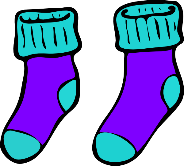 Sock clip winter. Sneakers clipart library