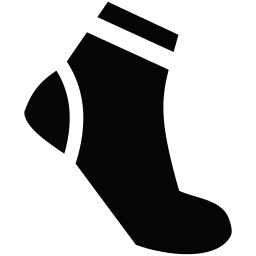 Leg icon myiconfinder clothes. Sock clip wool svg black and white library