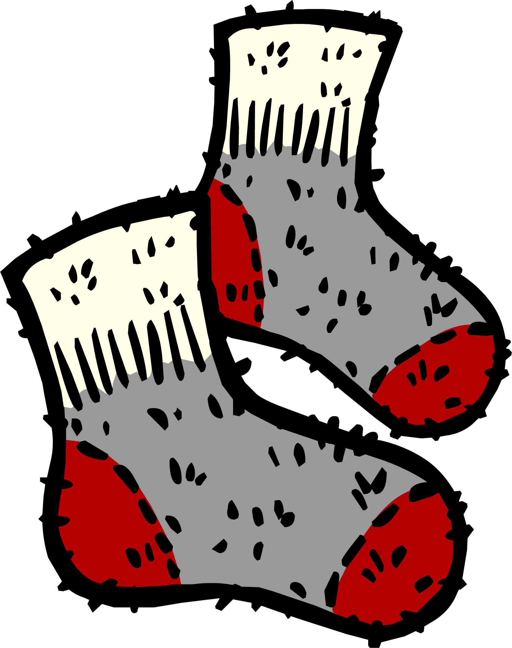 Sock clipart wool sock. Socks club penguin rewritten