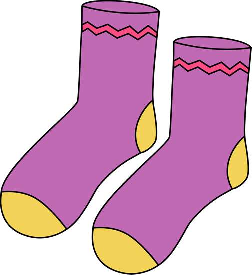 socks clipart patterned sock