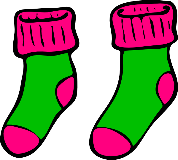 Green pink clip art. Sock clipart image freeuse stock