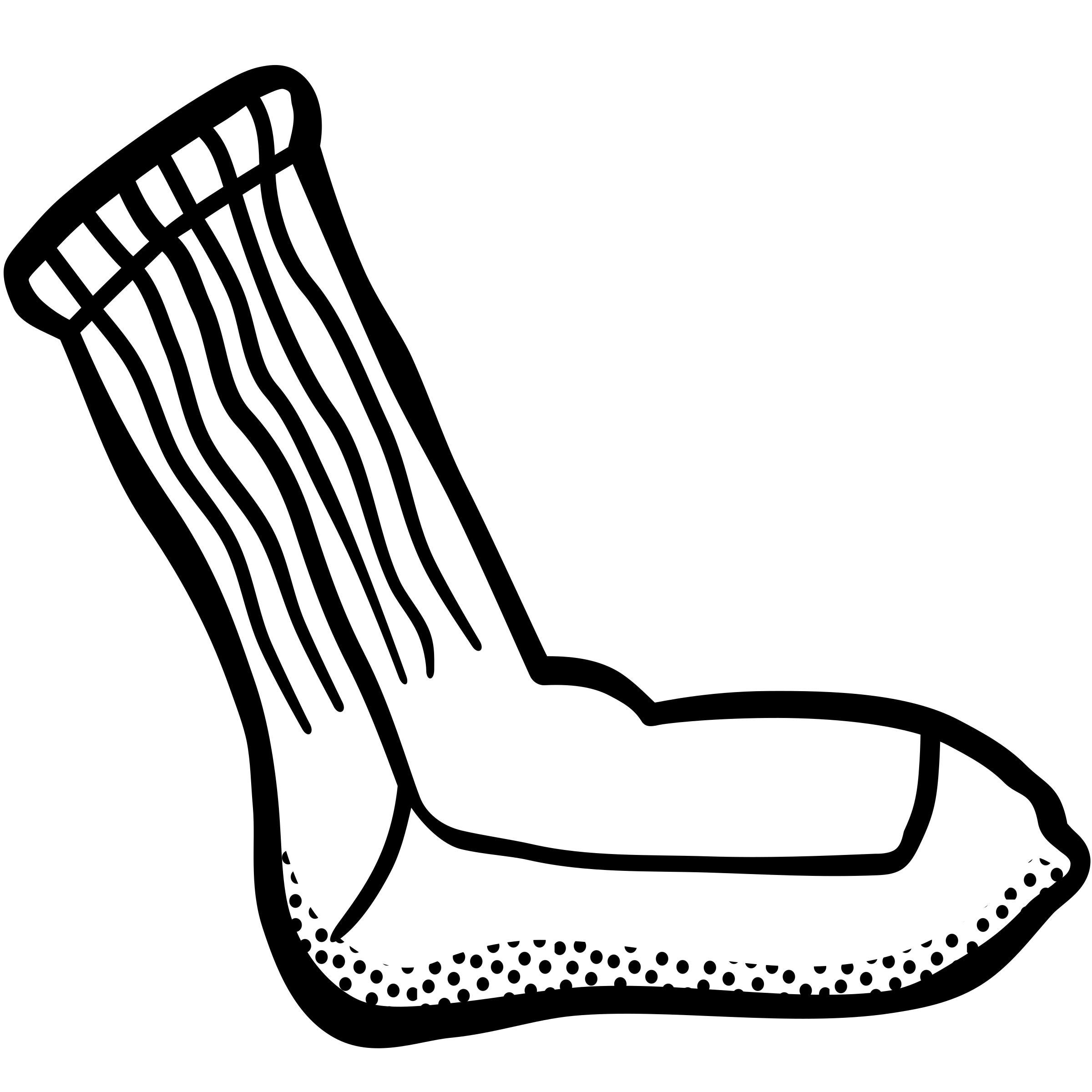 Sock clipart. Lineart big image png
