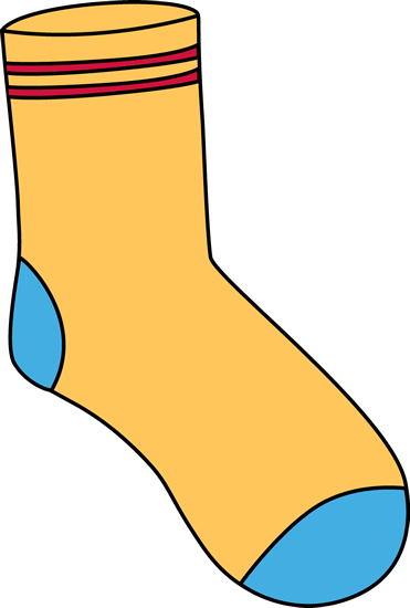 sock clipart knitted sock