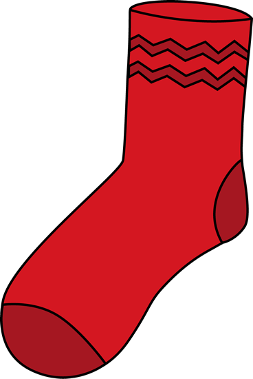 sock clipart red