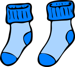 Blue socks clip art. Sock clipart picture freeuse download
