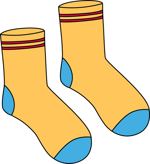 socks clipart polka dot sock