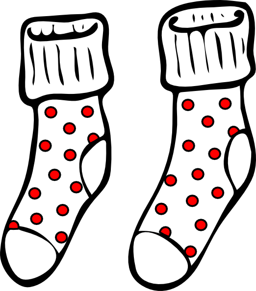 Spotty clip art at. Socks clipart socks nike jpg free stock
