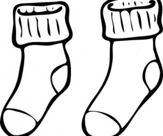 sock clipart draw