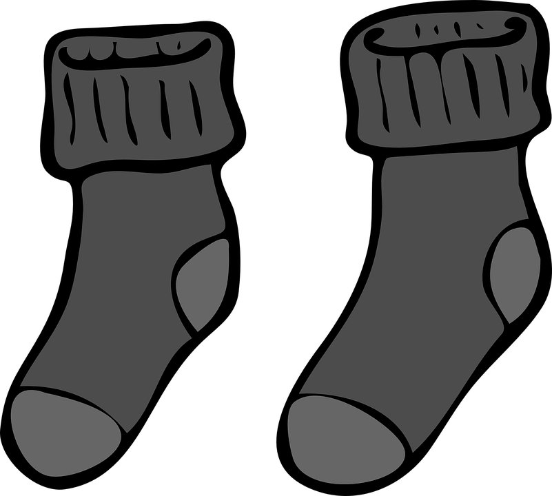 Free photo grey winter. Sock clipart knitted sock picture black and white library