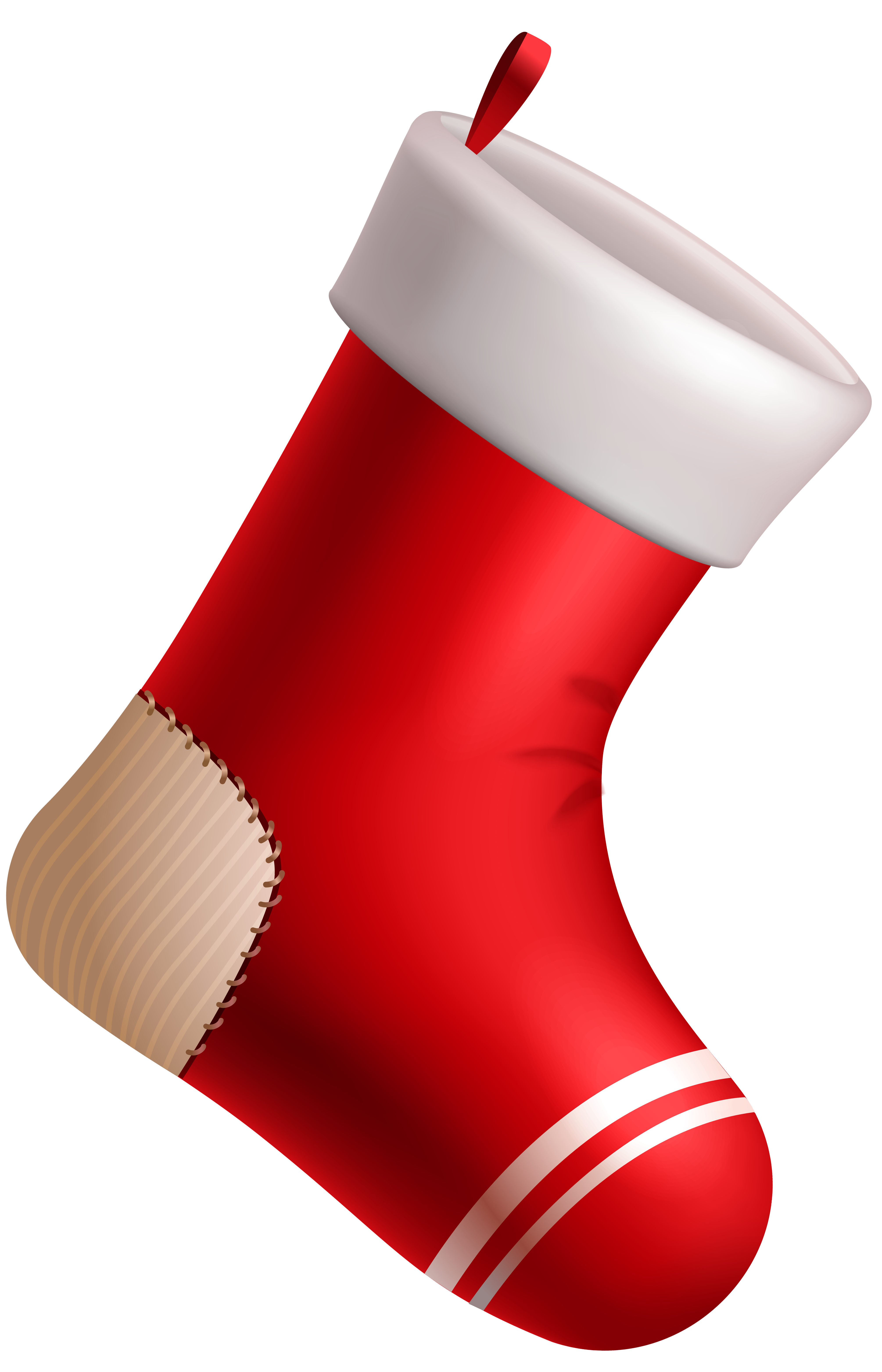 Sock clipart red. Christmas stocking png image