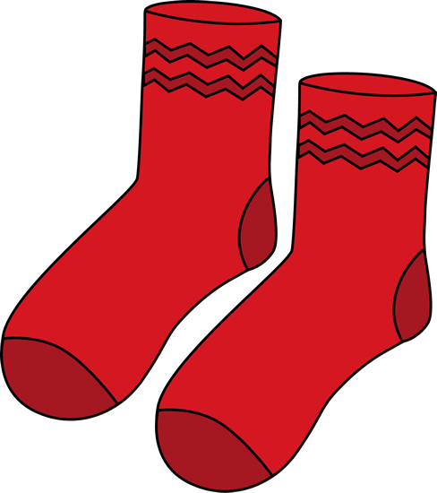 Socks clipart printable. Red pair of clip vector freeuse
