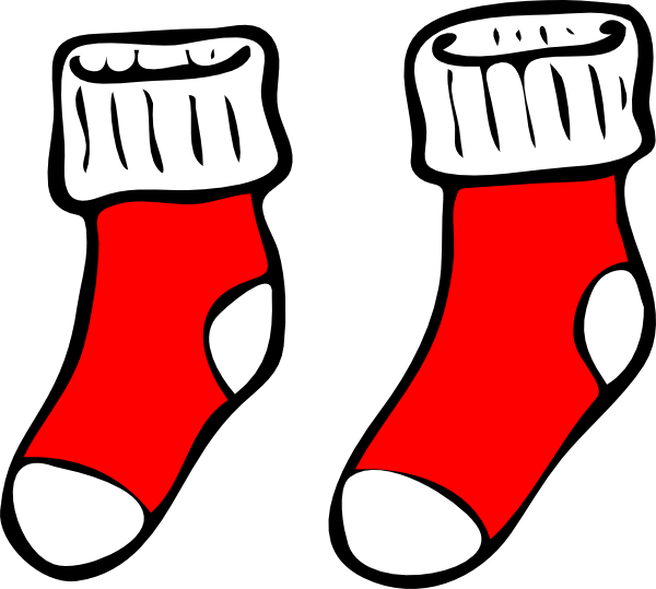 Sock clipart red. Socks clip art at