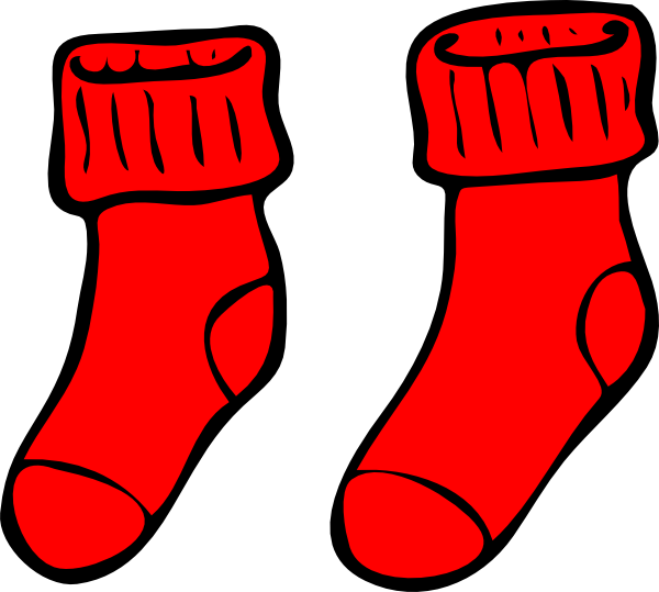 Socks clip art at. Sock clipart red clip art freeuse library