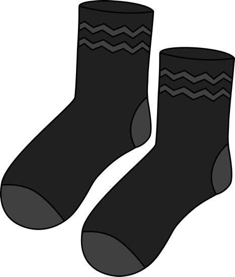Pair of black clip. Socks clipart patterned sock stock