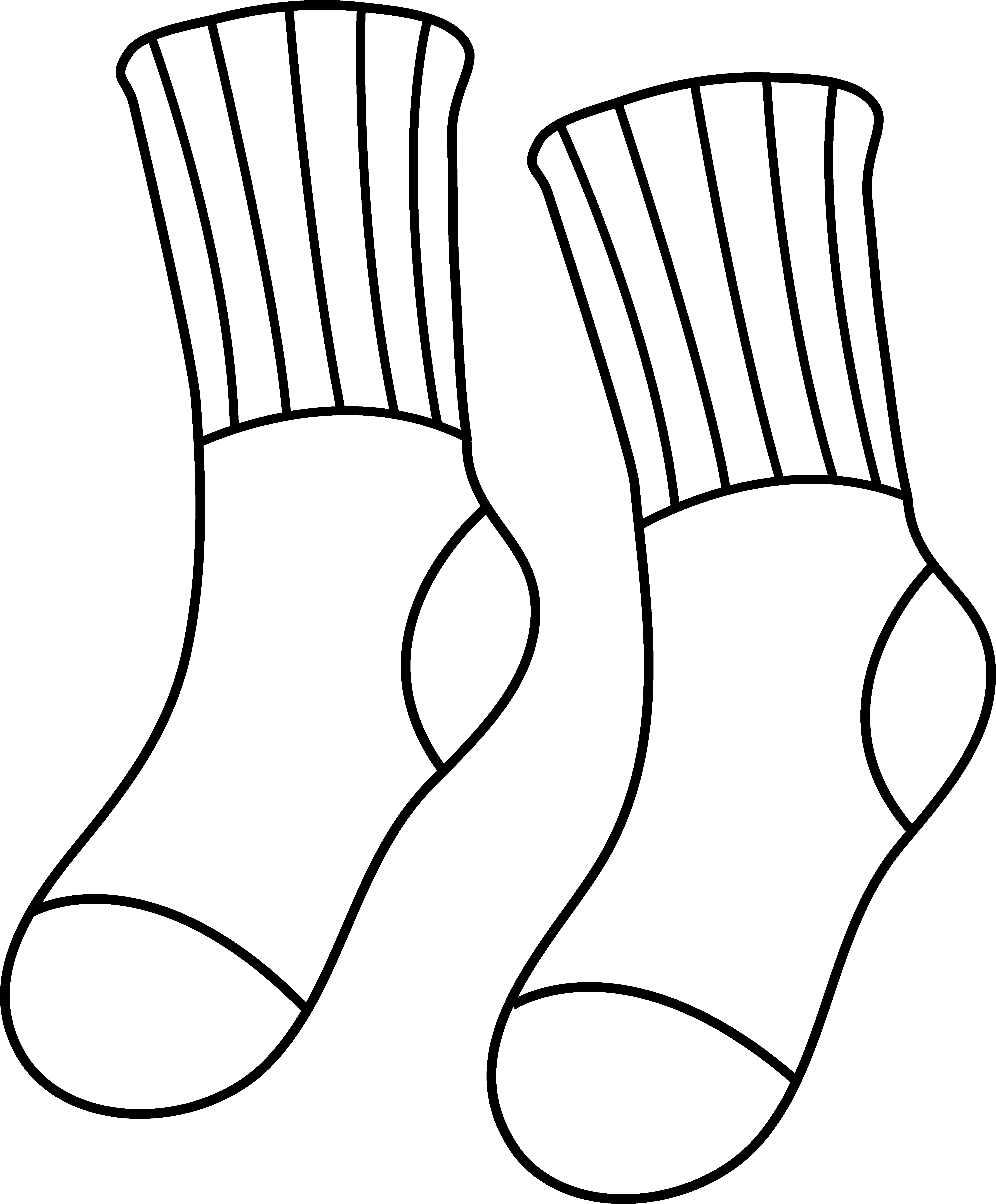 Drawing door colouring page. Socks coloring colorable outline