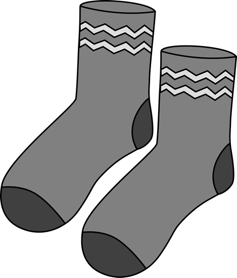 Sock clip clothing. Art images gray pair