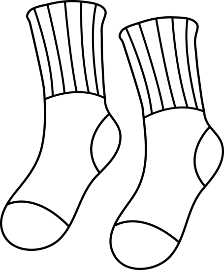 sock clipart school