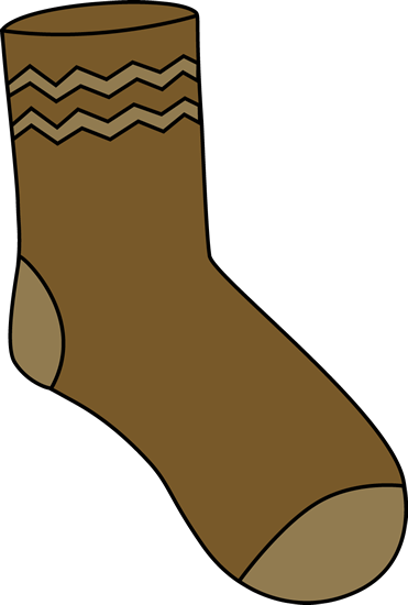 Socks clipart shock. Brown sock clip art