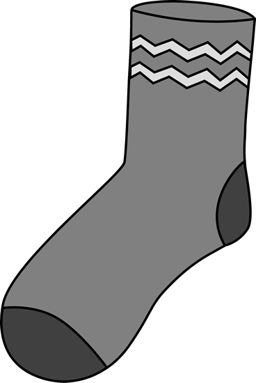 Sock clip one. Art images gray