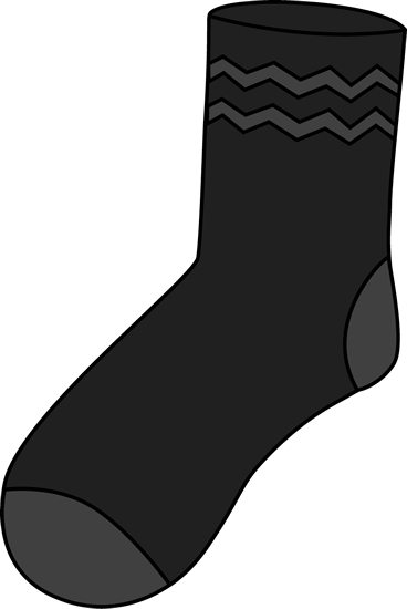 Clip art images black. Socks clipart patterned sock banner black and white