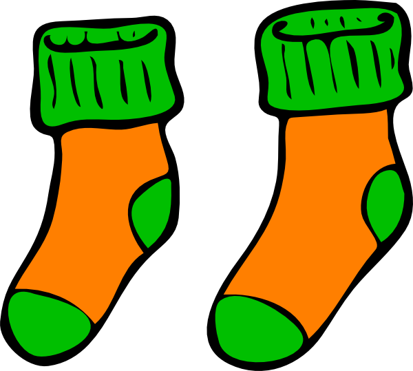 Orange green clip art. Socks clipart patterned sock png transparent