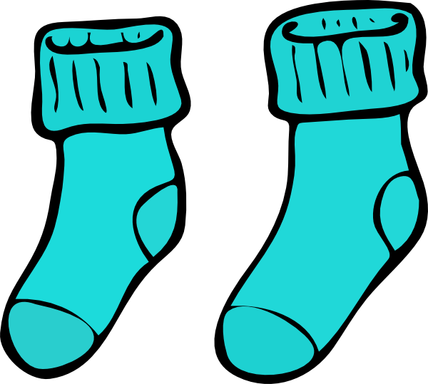 Turquoise art at clker. Sock clip jpg black and white download