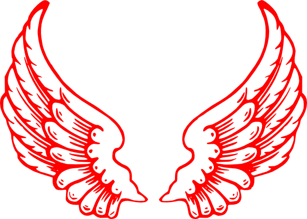 Socks clipart winged. Multi red wings clip