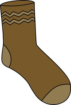 Sock clipart wool sock. Black and white funky
