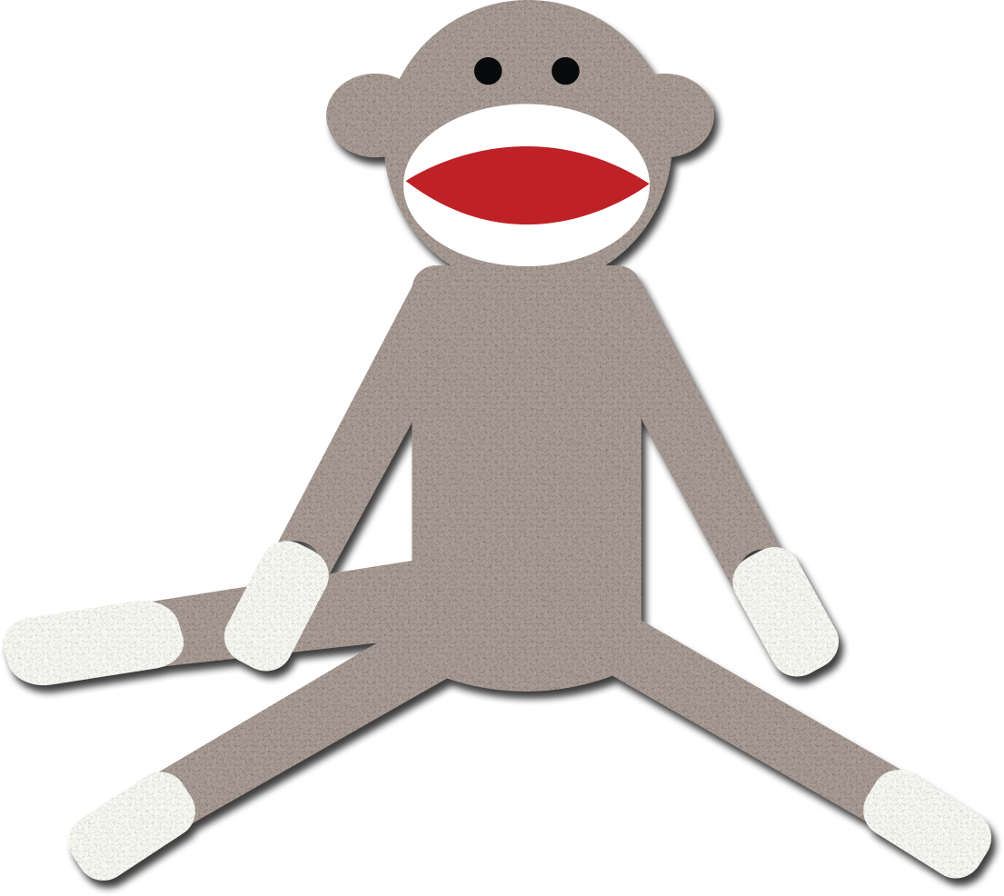 Clip art many interesting. Sock monkey png vector free stock