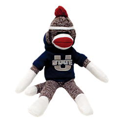 Usu campus store utah. Sock monkey png jpg black and white library