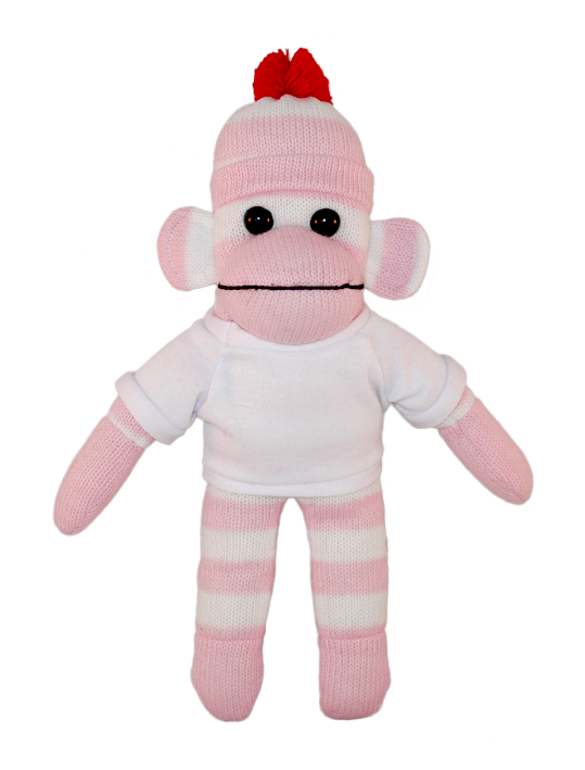 Sock monkey png. Bear with me pink